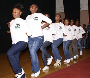 Williams students perform.